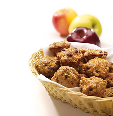 #AnnaOlson's Mini Apple Raisin Muffins make a delicious after school #snack for the kids.