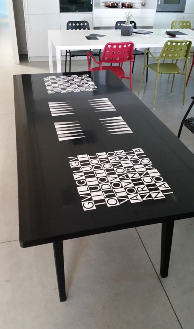 #Modula Backgammon table #Corian®