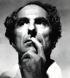 Author Philip Roth photographed by Irving Penn, 1983.