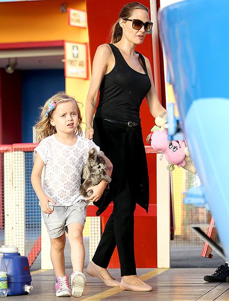 Angelina Jolie Takes Kids to Amusement Park: Adorable Pictures! #celebrity #kids