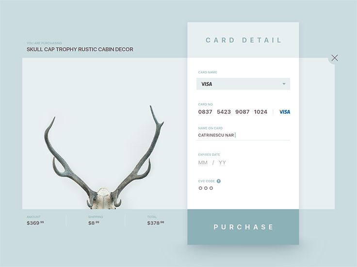 Daily UI 002 - Credit Card Checkout by Catrinescu Narcis  for Enwebo