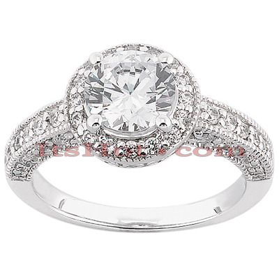 This 14K Gold Diamond Engagement Ring Setting weighs approximately 4 grams and showcases 0.43 carats of dazzling round diamonds and is available in Platinum, 18k or 14k yellow, rose, white gold, various sizes, and can be customized with any color and quality diamonds. This ring can accommodate from 0.50ct to 3ct stone as a center (gold weight and number and carat weight of side stones may vary). Please note: This listing is for engagement ring Setting only, center diamond is for illustration…