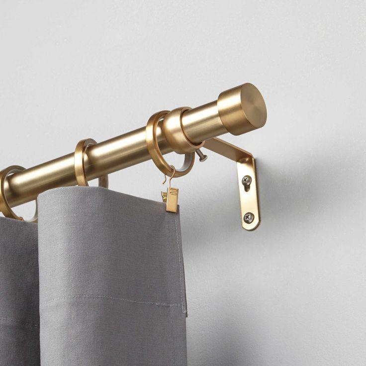 Umbra® Cappa Decorative Window Curtain Hardware in Brushed Brass