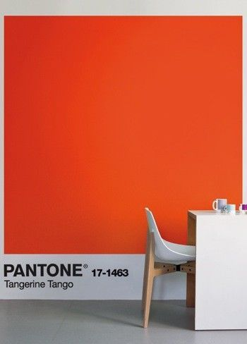 Interesting Way to Dress A Wall. The Pantone Logo finishes the wall as an artpiece. #paint > #interiordesign