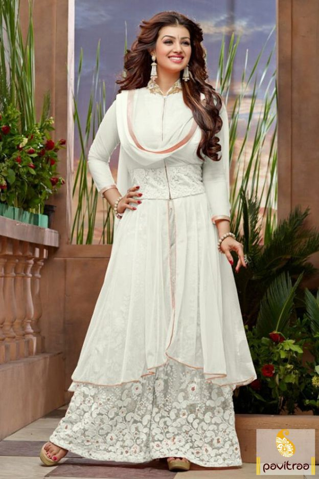 Look adorable this upcoming festive season in this pretty Ayesha Takia off white color designer palazzo salwar suit online at best Indian rate. #salwarsuit, #palazzosalwarsuit, #partywearsalwarsuit, #weddingwearsalwarsuit, #bollywoodsalwarsuit, #yeshatakiyasalwarsuit, #newyeardesignersalwarsuit More : http://www.pavitraa.in/store/palazzo-salwar-suits/ Call / WhatsApp : +91-76982-34040 E-mail: info@pavitraa.in