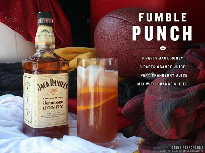 Fumble punch. Love me some jack honey.