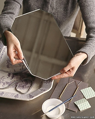 make an old platter into a mirror