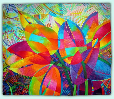 Melody Johnson: Art Quilts - Galleries - Botanicals oh luscious would love to have this