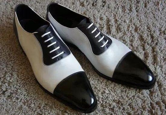 Men Spectator Shoes, Men Black And White Formal Shoes, Mens Dress Shoes - Dress/Formal