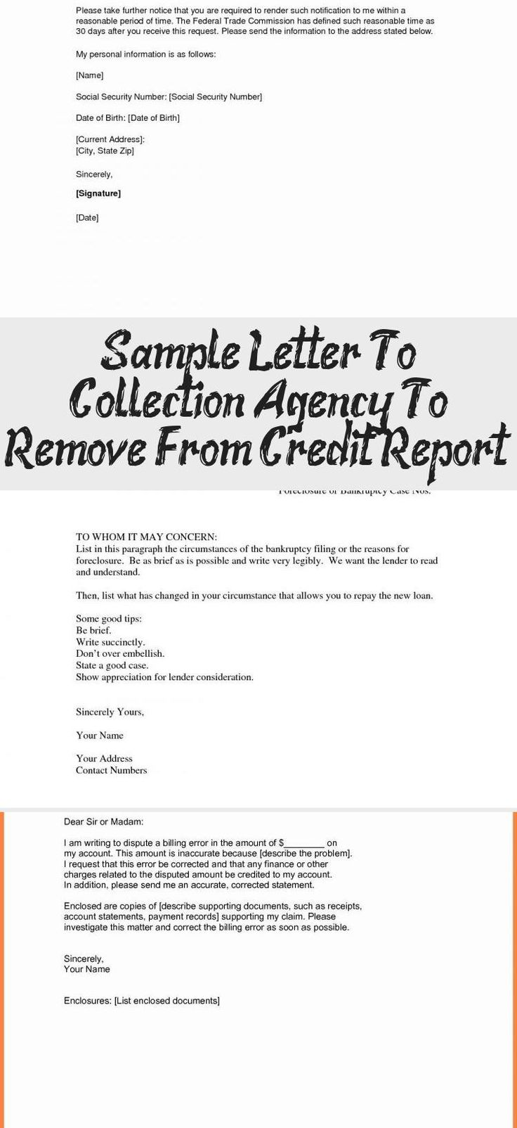 49+ Second dispute letter to collection agency trends