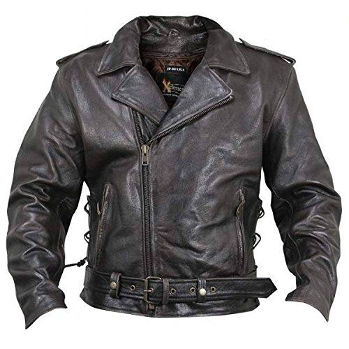 Xelement XS589 Classic Mens Brown Leather Jacket  5X-Large For Sale https://motorcyclejacketsusa.info/xelement-xs589-classic-mens-brown-leather-jacket-5x-large-for-sale/
