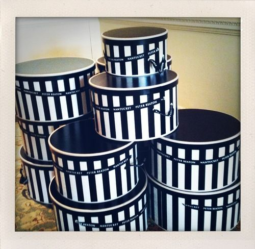 I am totally doing this with my garage sale hat boxes