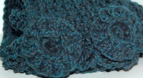 Scarf, floral, blue scarf, hand crafted, crochet floral | daffydill - Accessories on ArtFirehttp://www.artfire.com/ext/shop/product_view/daffydill/5220193/blue_scarf_floral_motif_knitted_long_scarf_blue_scarf_/handmade/accessories/scarves/knit