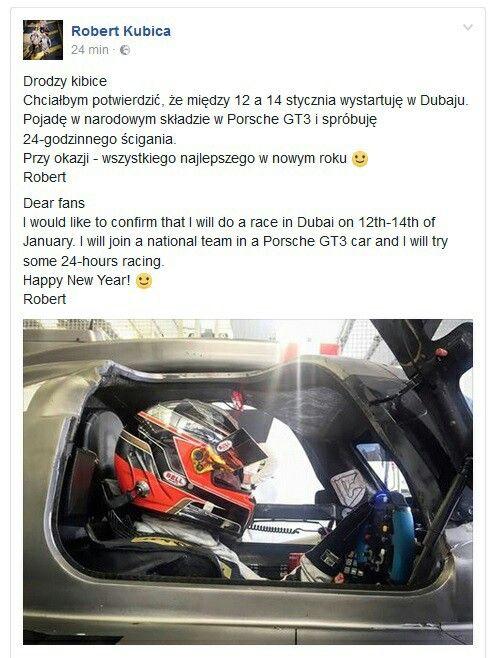 Robert Kubica w Hankook 24h Dubai