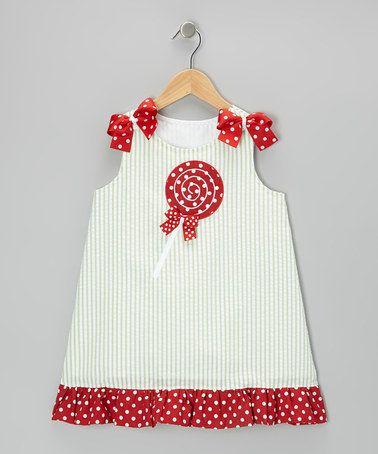 Look at this #zulilyfind! Green Lollipop Seersucker Dress - Infant, Toddler & Girls by Heart & Soul #zulilyfinds