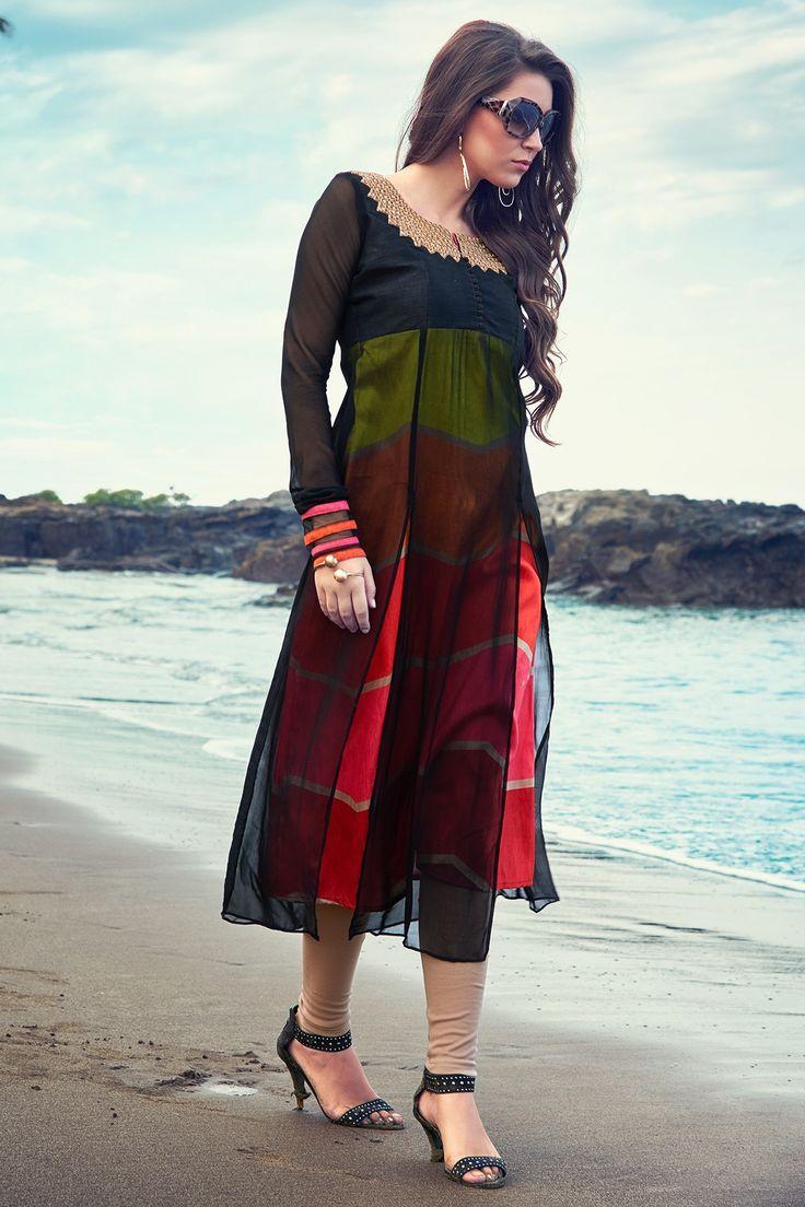 279 best Designer Women's Kurtis and Tunics images on Pinterest ...