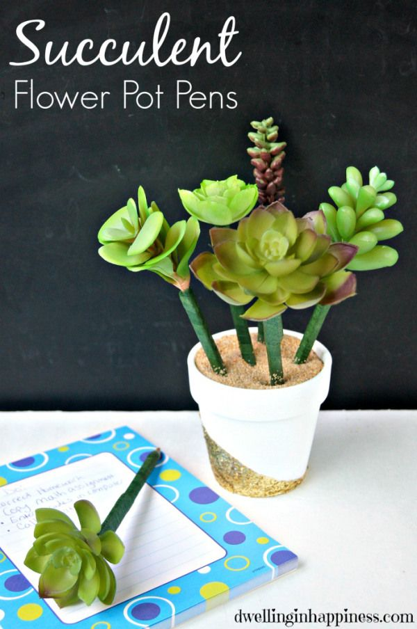 Succulent Flower Pot Pens - Dwelling In Happiness