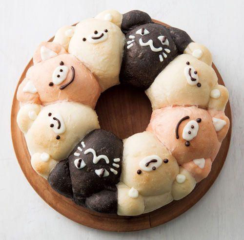 三色動物ちぎりパン パン