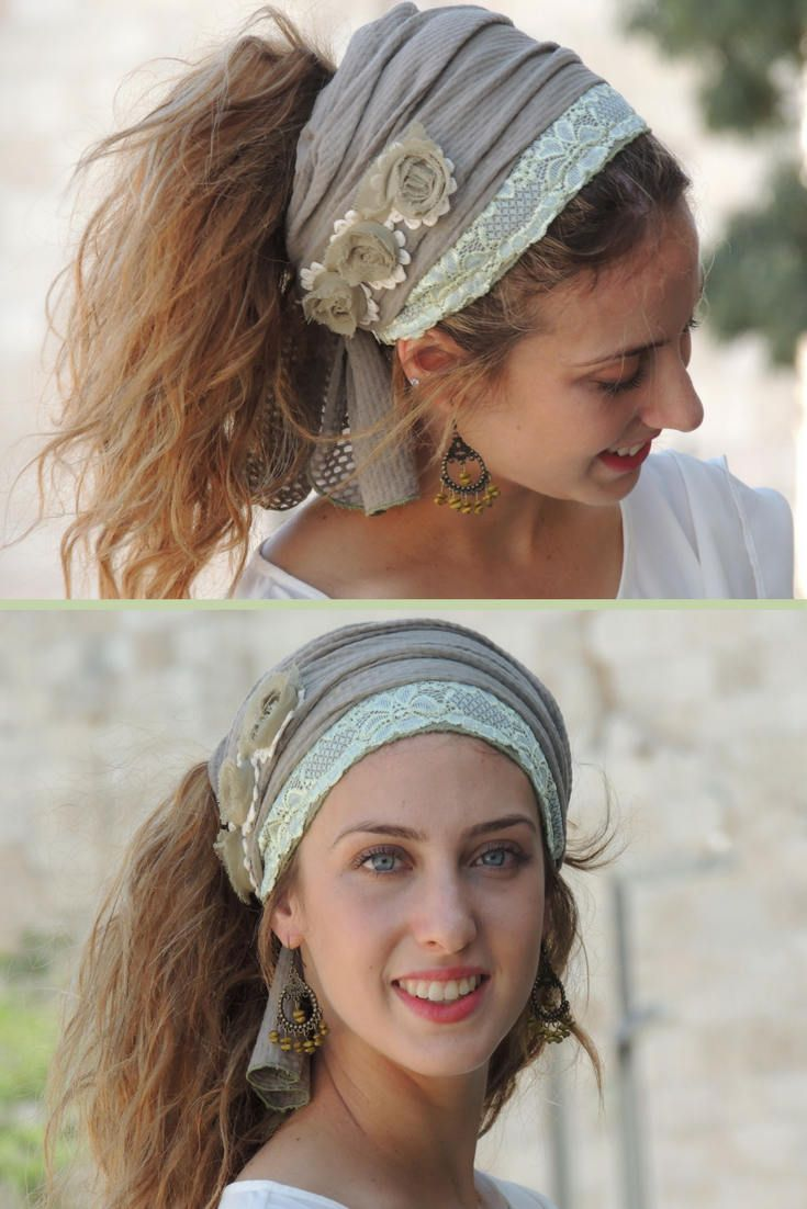Soft Green Beautiful Headband tichel ,Snood, Head Scarf,Head Covering,jewish headcovering,Scarf,Bandana,apron http://etsy.me/2ACSyWY #accessories #hair #headband #green #beige #mitpachat #hairsnood #headcovering #h