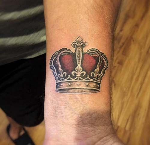 man wrist crown tattoo erkek bilek taç dövmesi