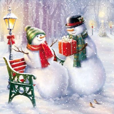 3696 Servilleta decorada Navidad