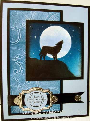 Howling at the Moon - MZ by Zindorf - Cards and Paper Crafts at Splitcoaststampers