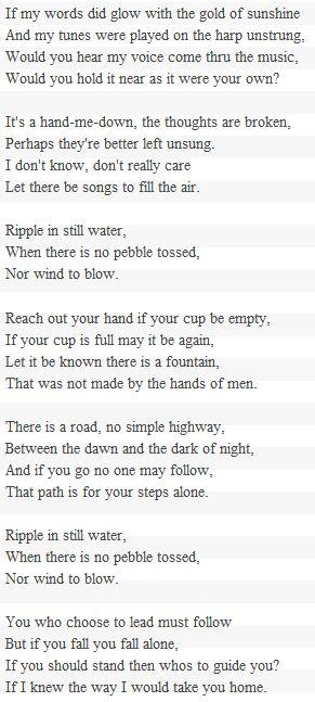 Ripple, the Grateful Dead