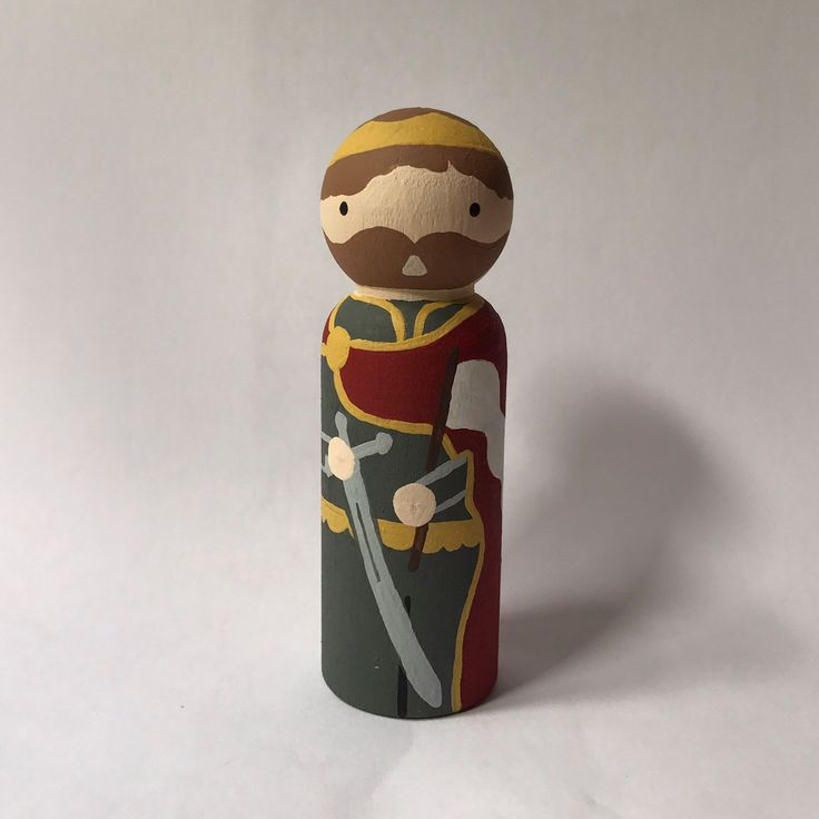 St. Wenceslaus - Wooden Peg Doll by EmmausRoad on Etsy https://www.etsy.com/listing/479265514/st-wenceslaus-wooden-peg-doll