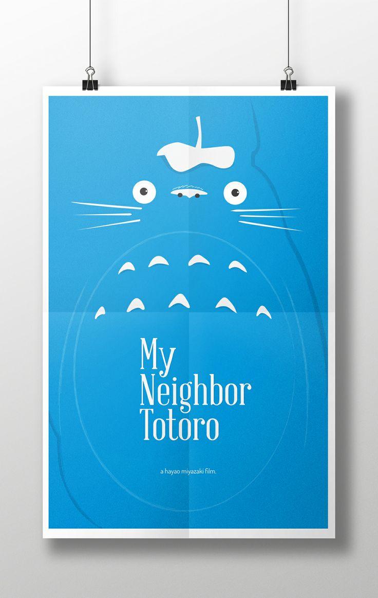 11x17 poster design - My Neighbor Totoro Minimalist Poster Design