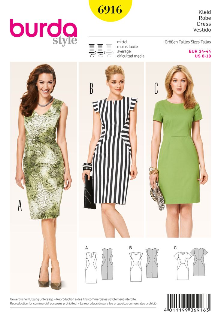 Pattern Reviews> Burda> 6916 (Dresses)