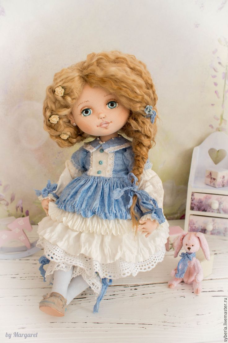 Handmade Sophie. Collection textile doll - textile doll, toy, collection doll, US cotton
