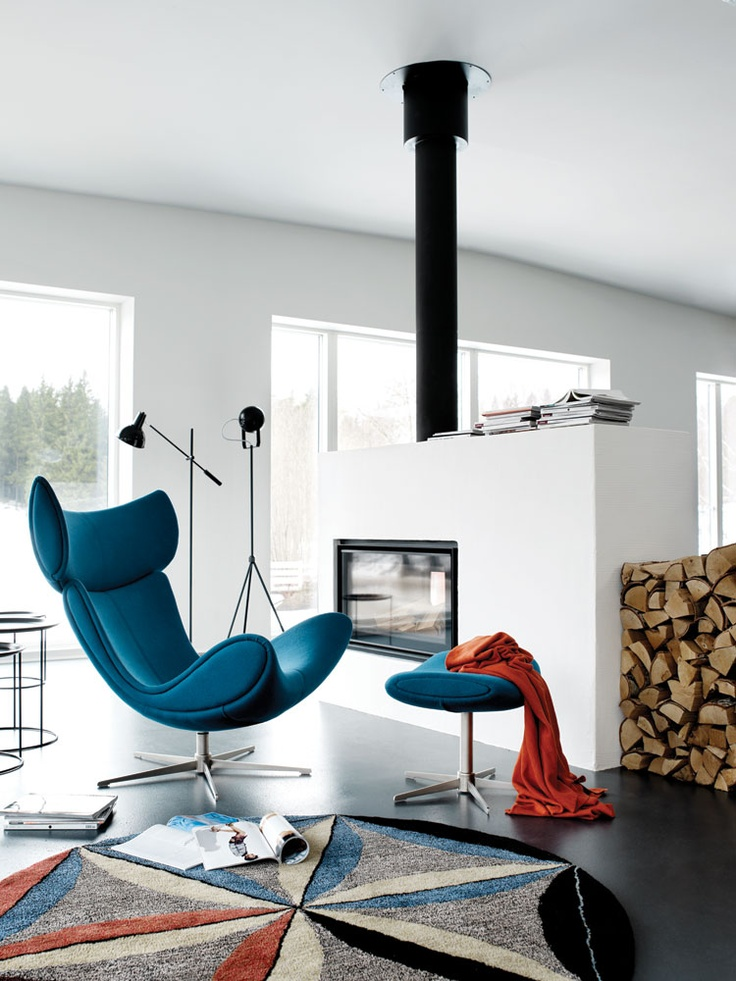 Imola Chair And Footstool In Petrol Felt Home Living