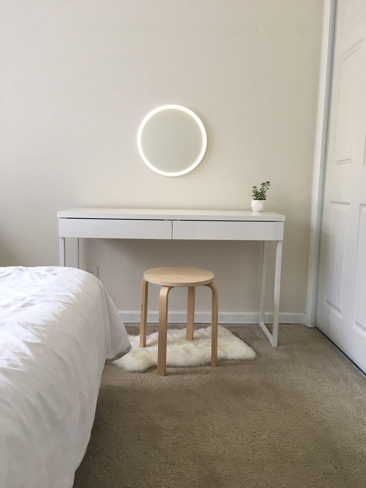 My ultra-minimalist vanity, courtesy of Ikea and Amazon! - Imgur
