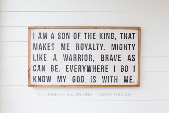 son of a King by HouseofBelongingLLC on Etsy