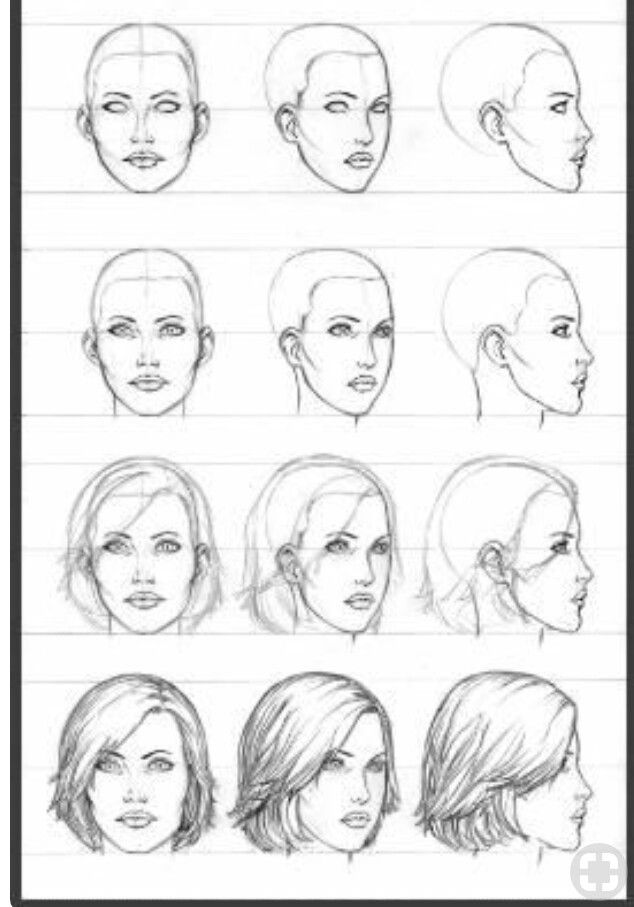 Pin By Carol Derouche Littlehale On Drawing Techniques Drawing Tutorial Face Female Face Drawing Profile Drawing