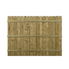 6 Ft X 8 Ft Spruce Dog Ear Pressure Treated Wood Fence