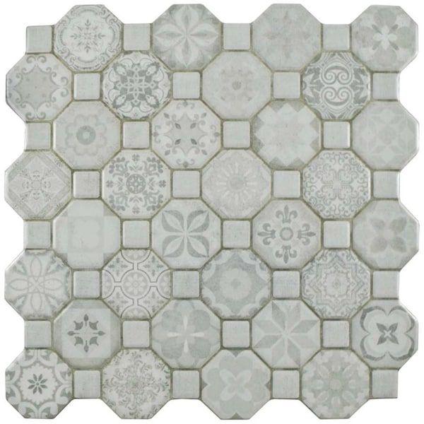Somertile 12 25x12 25 Inch Tesseract White Ceramic Floor And Wall Tile 13 Tiles 14 11 Sqft Ceramic Floor Floor And Wall Tile Tiles