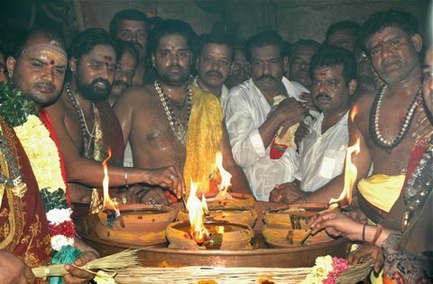 Aarti or lighting a camphor is an important stage of offering prayers in Hinduism. It symbolizes the removal of darkness. It is performed lightinga ghee lamp in...
