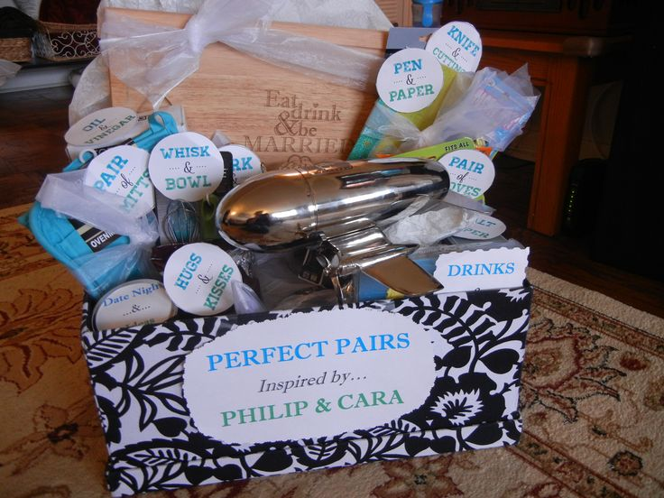bridal shower gift basket theme perfect pair includes pairs of household items