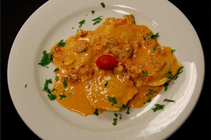 Lobster Ravioli with Shallot Vodka Cream Sauce recipe on Food52