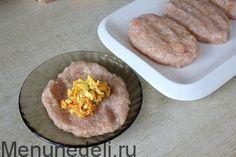 Зразы куриные с омлетом и овощами как в детском саду - рецепт / Меню недели