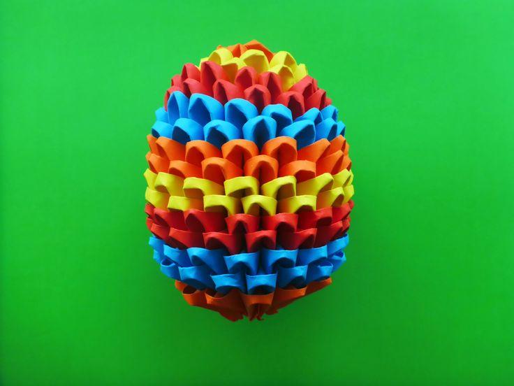 DIY Origami Osterei 3D Geschenk zu Ostern Tutorial Anleitung
