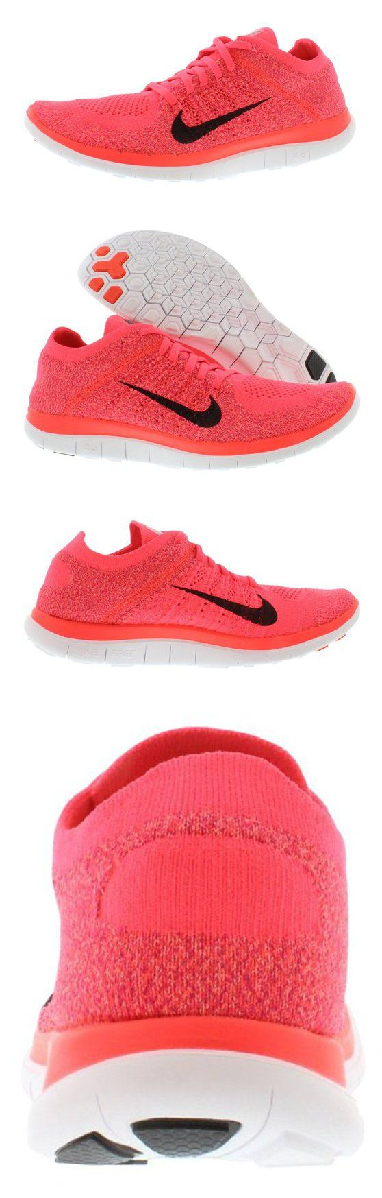 $129.99 - Nike Free Flyknit 4.0 Ladies Womens Running Shoes  Hyper Punch #shoes #sporting_goods #nike