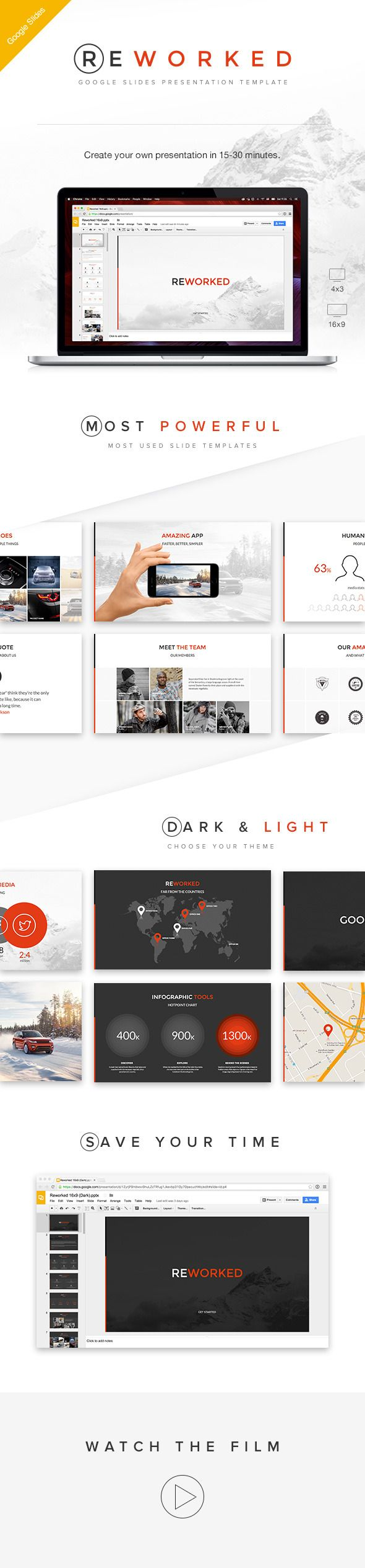 Reworked Google Slides Presentation Template - Google Slides Presentation Templates #ad