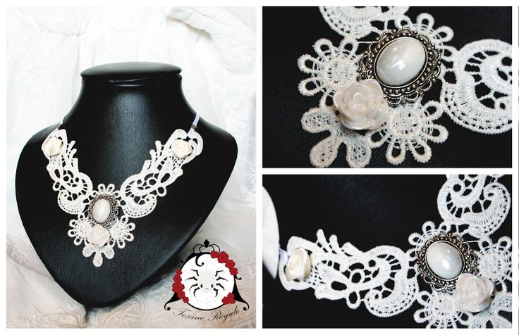 Cute and elegant off-white necklace