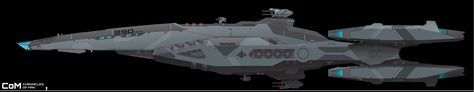 Rapier-Class Corvette - Tizona The Blue Ghost by ChroniclesofMan.deviantart.com on @DeviantArt
