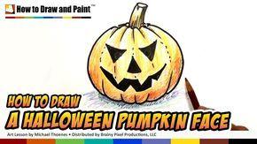 How to Draw a Halloween Pumpkin Face - Art for Kids | MAT