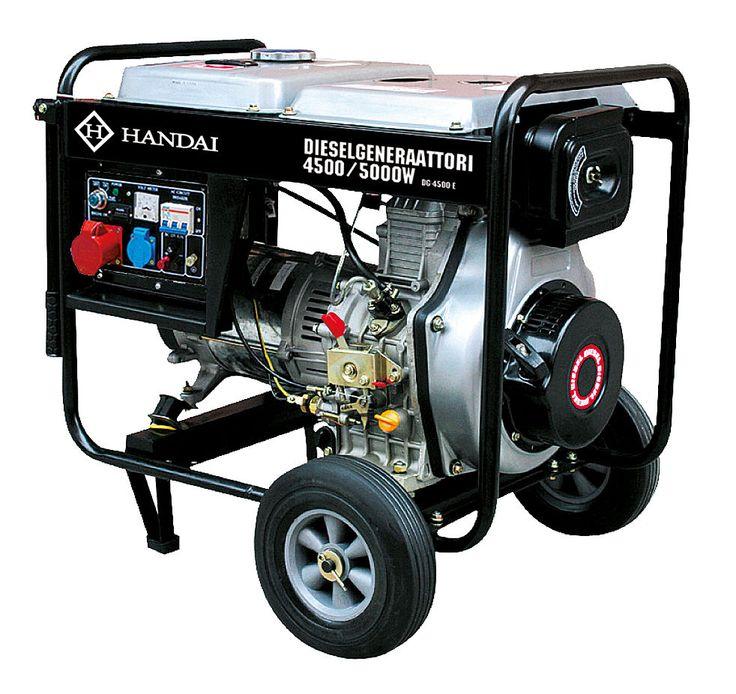 Dieselaggregaatti / dieselgeneraattori HANDAI 4500/5000W, 230/400V   Rellunkulma.fi Verkkokauppa