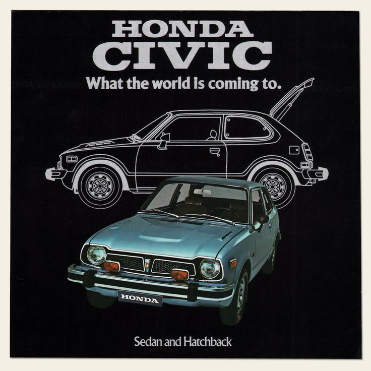 1975 Honda CIVIC Dealer Brochure I OldBrochures.com