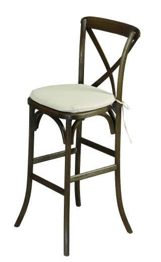 Our new Vineyard X-Back Bar Stools are here!!!! Rent for $11.00 each including the chair pad.